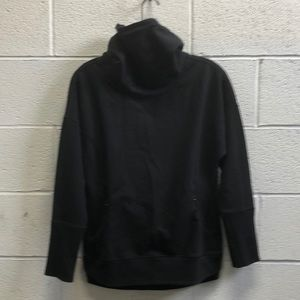 Lululemon black cowl neck sweatshirt sz 6 63706